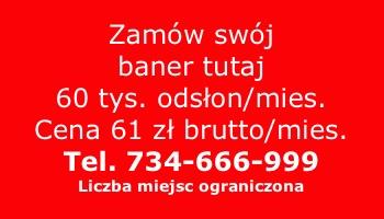 Zamów swój baner 61 zl
